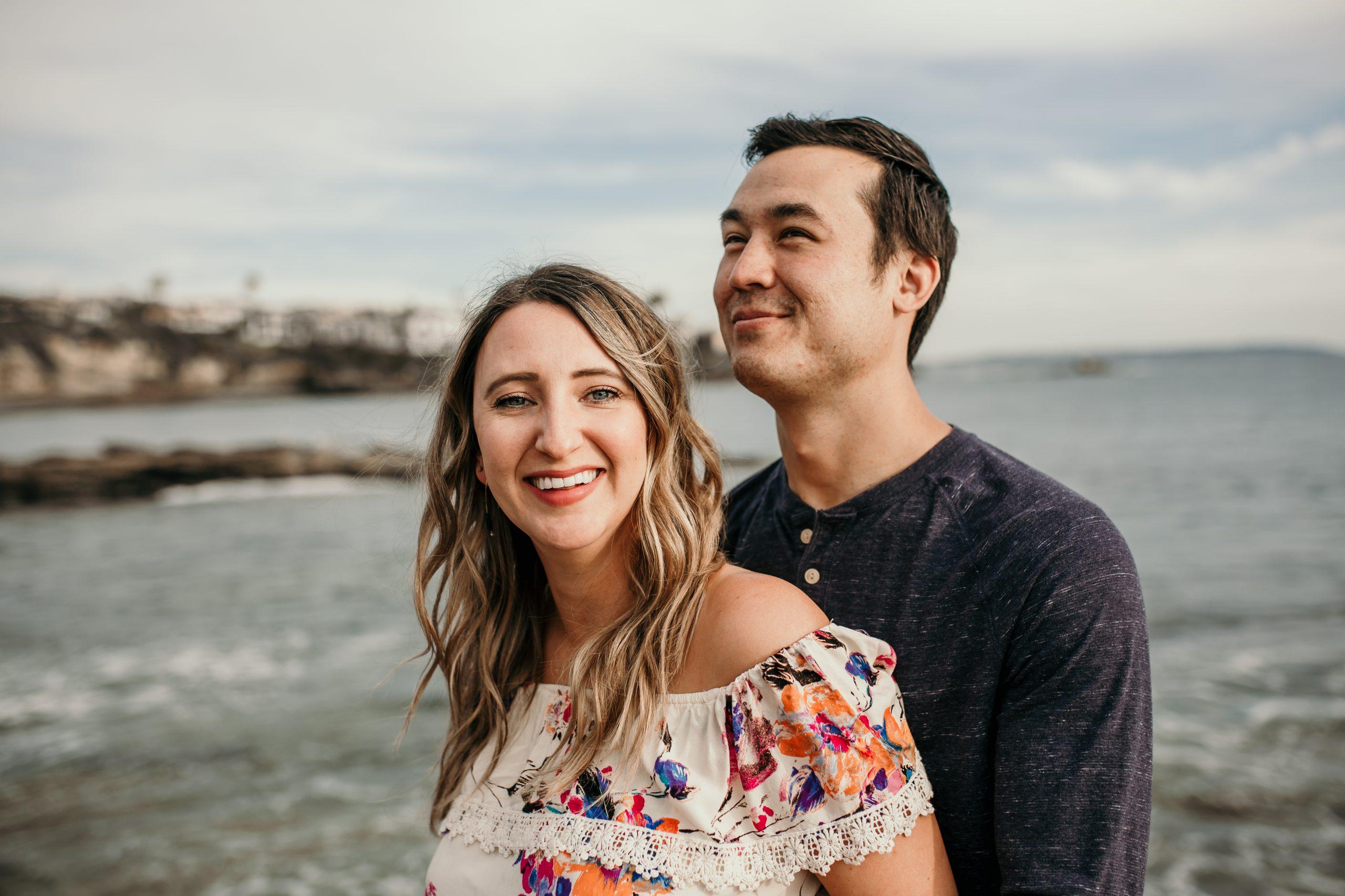 Romantic Dreamy San Diego La Jolla Beach Engagement